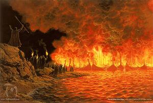 Ted Nasmith - Burning of the Ships