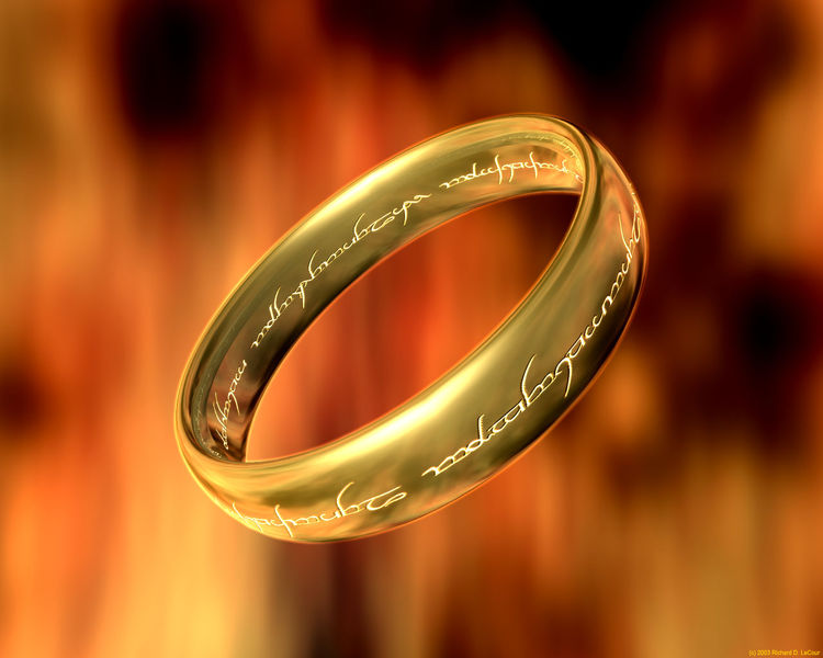 What Does The Lord Of The Rings Wedding Ring Say