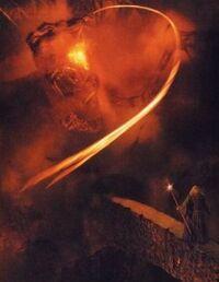 Balrog vs Gandalf