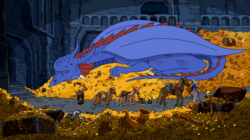 Burns as Smaug