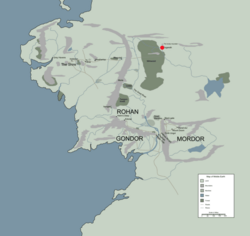 ESGAROTH location map in middle earth