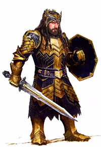 Thorin's armour concept in The Hobbit