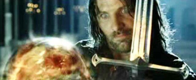 File:Aragorn revealing himself to Sauron.JPG
