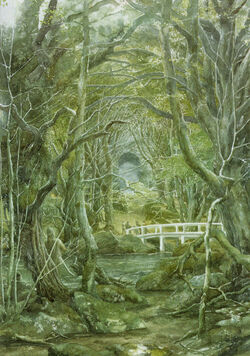 Alan Lee - The Entrance to Thranduil's Palace