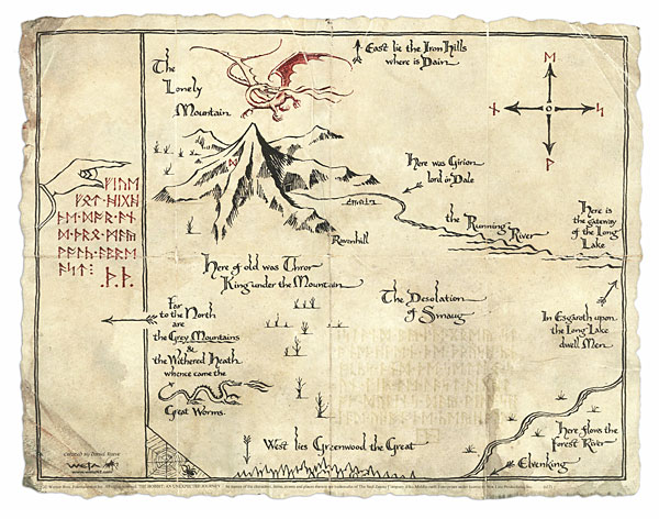 Image  F27c thorins map from the hobbitjpg  The One Wiki to
