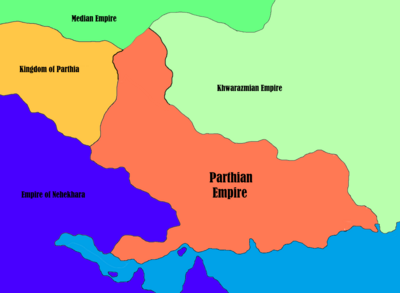 Parthian Empire - Map