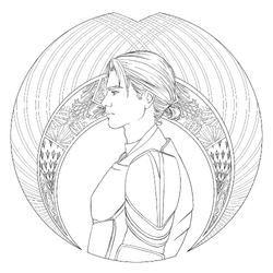 Coloring book character profile Jacin