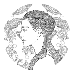 Coloring book character profile Iko