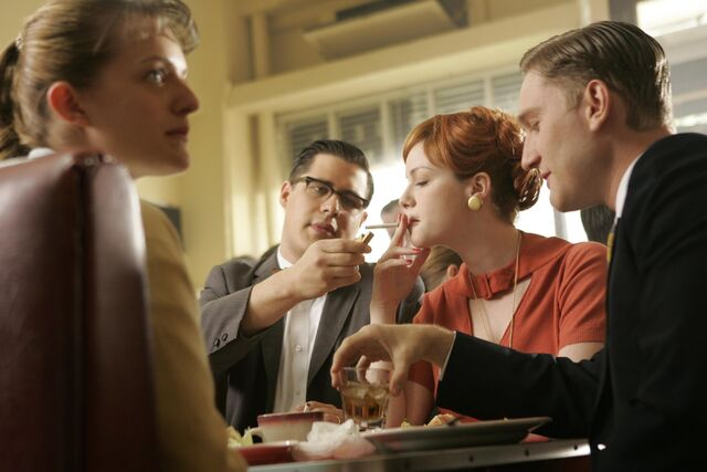 File:Boys take Joan and Peggy to lunch.jpg