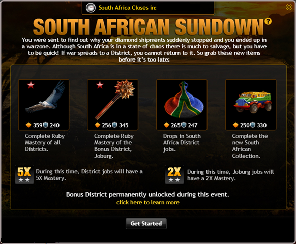 South African Sundown Info
