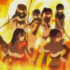 Chris and the others corner the Itagaki Siblings (Anime)