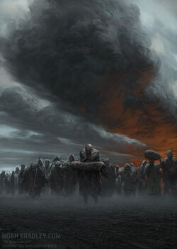 Cover image for 'The Bonehunters' by Noah Bradley