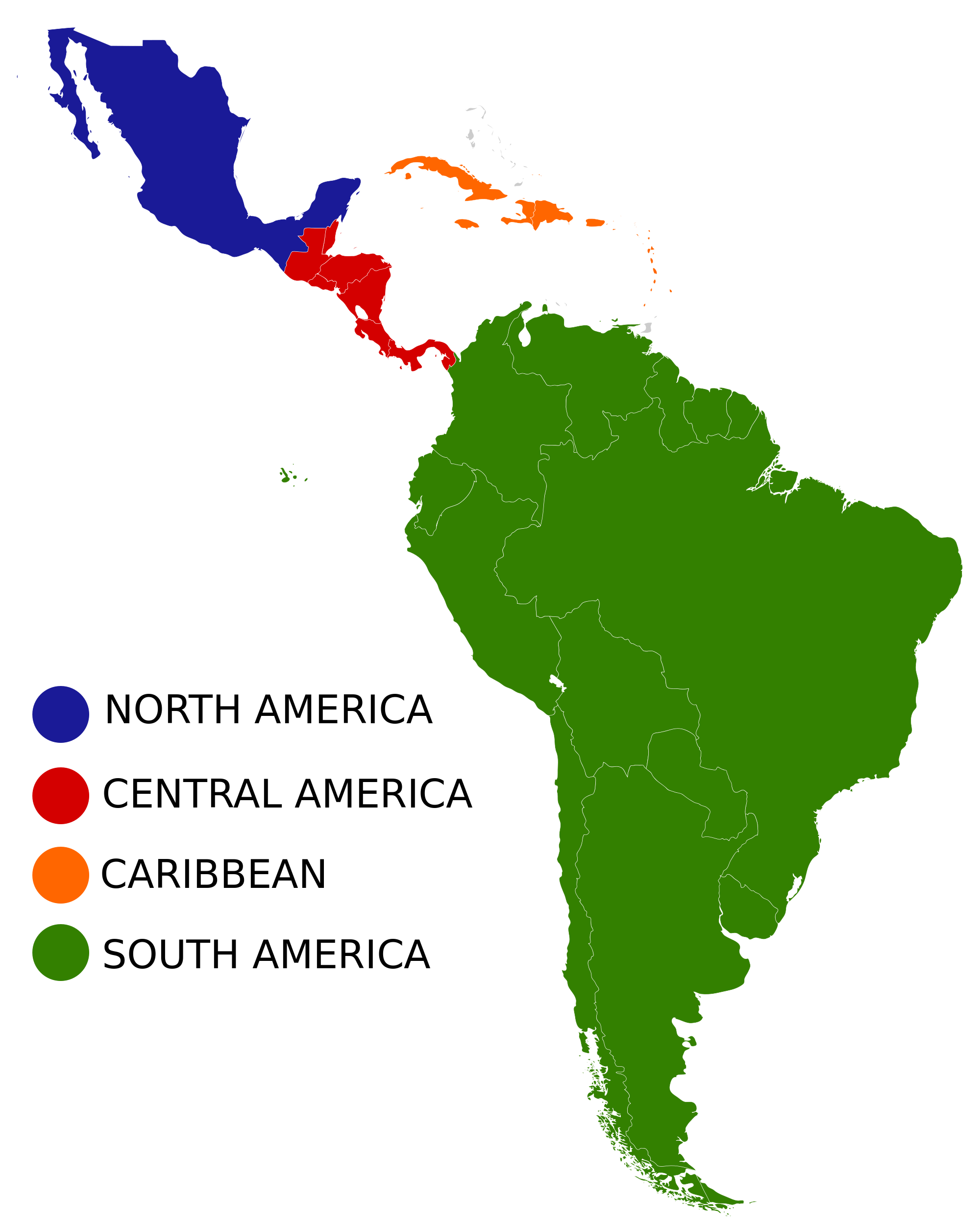 South America Map Map Of South America Central America Geography - Central america and caribbean map quiz