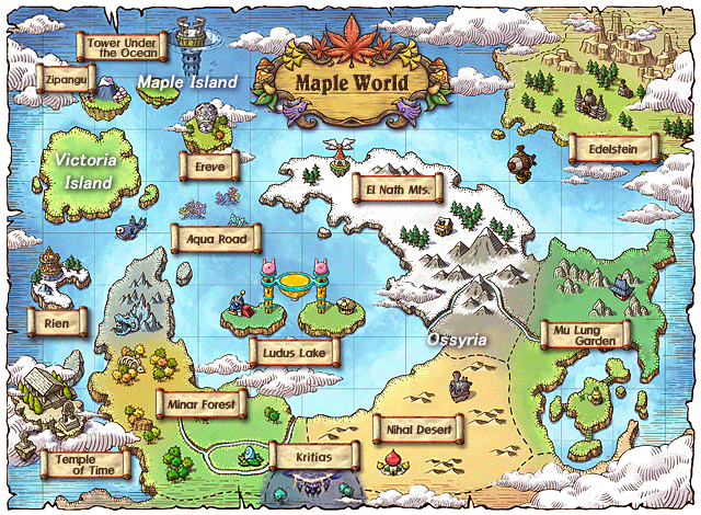 Image result for Maple Story world map