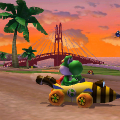 Yoshi racing in Wuhu Loop 2