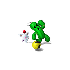 Moogle and Cactuar playing Dodgeball.