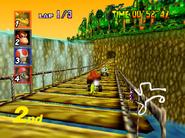DK's Jungle Parkway - Bridge - Mario Kart 64