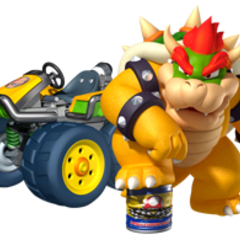 Bowser crushing a can.