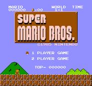 Super Mario Bros. - Title Screen