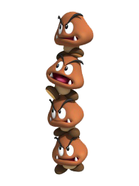 Paper Bowser World 3 Goomba Tower | M...