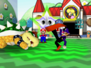 Waluigi Defeats Bowser