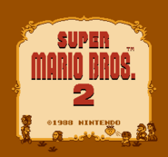 Title Screen Prototype (Super Mario Bros. 2)