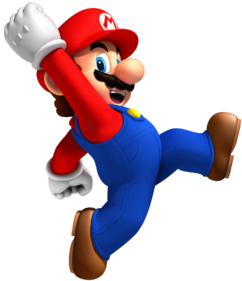 Jumping Mario Artwork - New Super Mario Bros. Wii