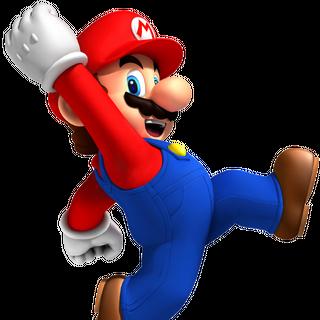 Jumping Mario.