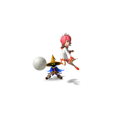 White Mage and Black Mage playing Volleyball.