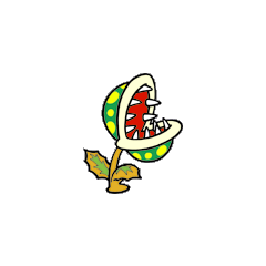 Piranha Plant's artwork from <i>Super Mario Bros.</i>