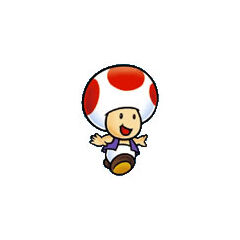 Toad's artwork from <i>Super Mario Bros.</i>