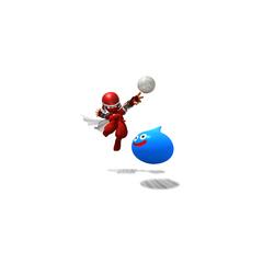Ninja and Slime playing Volleyball
