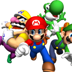 The four playable characters together.