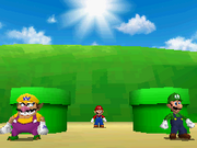Mario, Luigi Wario Intro - Super Mario 64 DS