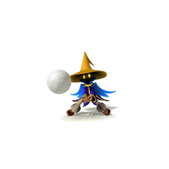 Black Mage fist pouncing.