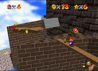 N64 Super Mario 64 whomp fortress