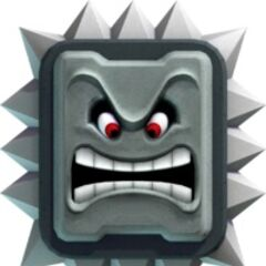 The Thwomp from <i>Super Mario 3D World</i>