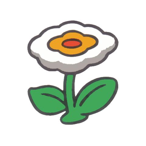 Fire Flower's artwork from <i>Super Mario Bros.</i>