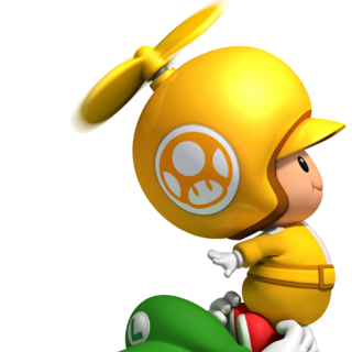 Propeller Toad carrying Luigi