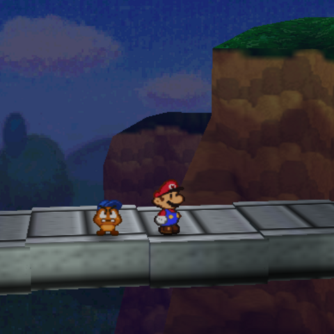 The bridge connecting Goomba Road with <a href=