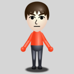 A basic male Mii.