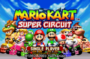 Title Screen (Mario Kart - Super Circuit)