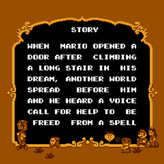 The first half of the story screen in <i>Super Mario USA</i>.