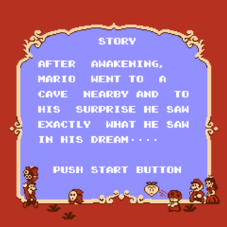 The second half of the story screen in <i>Super Mario Bros. 2</i>.