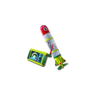 An Inkstrike missile from <i>Splatoon</i>.