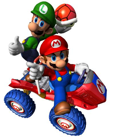 File:Mario y Lugi (mkdd).png