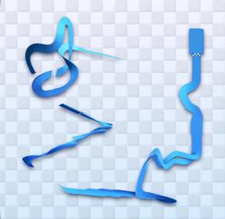 MK8 Big Blue Course Map