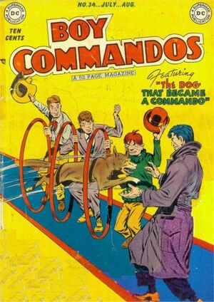 Cover for Boy Commandos #34 (1949)