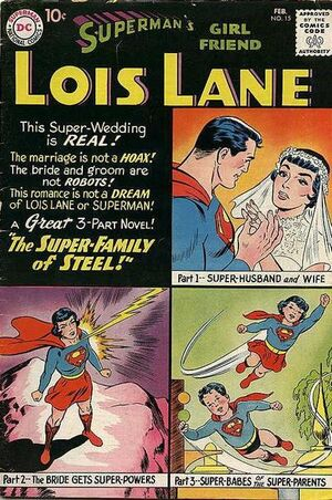 Cover for Superman's Girlfriend, Lois Lane #15 (1960)