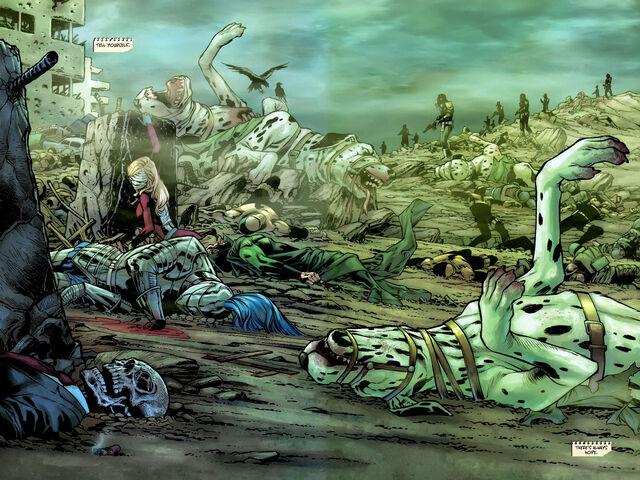 Cavalieri atomici e altri supereroi a Bludhaven